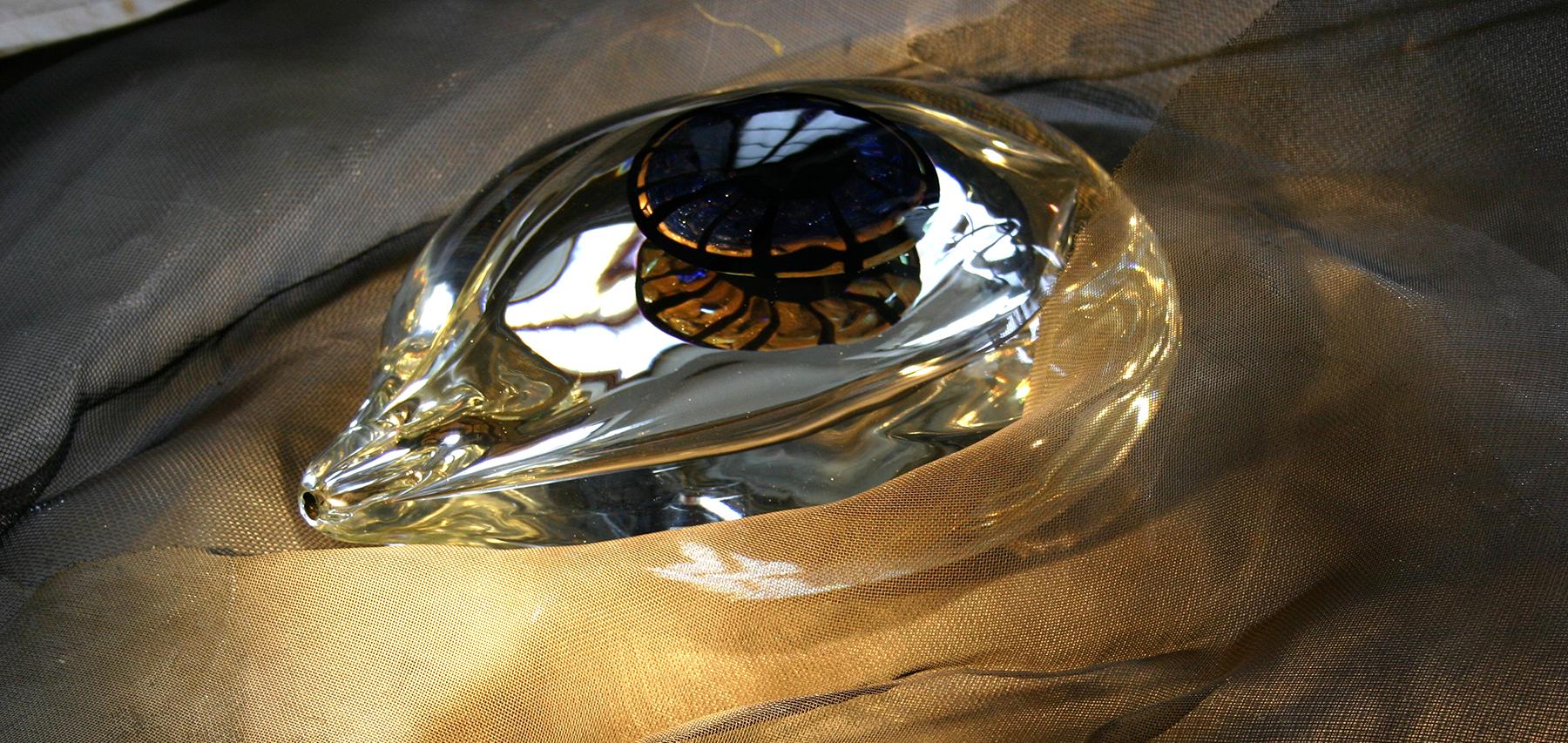 Sculture in vetro, occhi, Laura Panno, Milano